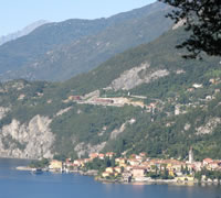 Panorama of Varenny Italy