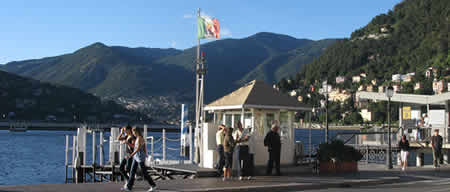 Lake Como Harbor in Como Italy