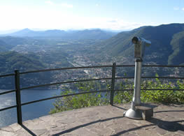 View of the lake from Brunate close to Como Italy