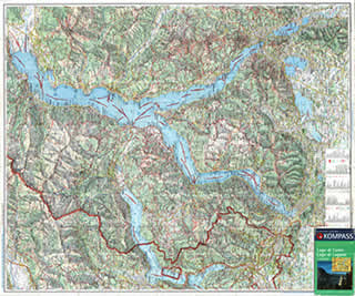 Kompass Map of Lake Como