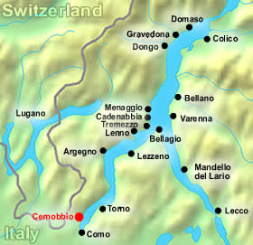 Cernobbio map