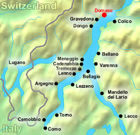 lake como map domaso