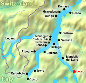 map lecco
