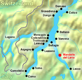 mandello del lario map